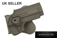 IMI STYLE RIGHT HANDED POLYMER HOLSTER TAURUS PT92 BERETTA 92/ 92FS  FDE/ TAN UK