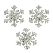Christmas Small Branch Snowflake Iron-on Applique Pack of 3