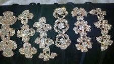 Joblot 24 un. Mixtas Diseño Diamante Brillante Vinchas nuevo al por mayor Lote D