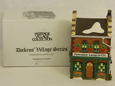 Dept 56 FAVERSHAM LAMPS & OIL Dickens Village Series Lighted Building #58327 NIB