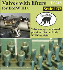 Taurus Models 1:32 Valves & lifters for BMW D.IIIa engine D3215 Wingnut Wings