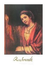Rembrandt Hendrikje Stoffels am Fenster Poster Kunstdruck Bild 50x70cm