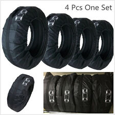 4 Pcs Black Nylon Washable Car SUV Storage Bag Protector Tool Fit For 16-22 Inch