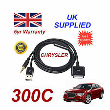 CHRYSLER 300C  MULTIMEDIA ADAPTER 71805430 iPhone iPod USB & Aux Cable in black