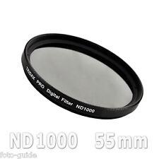 Nd1000 filtro gris 55mm density Grey Tridax pro digital