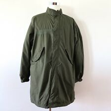 VINTAGE ORIGINAL US ARMY FISHTAIL PARKA WITH LINER M-65 M65 DATED 1972 SZ MEDIUM