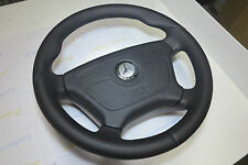 Mercedes Steering Wheel W140 W124 W202 W210 THICK+soft+Thumb Rests LEATHER SRS