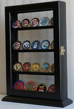 4 Shelves Military Challenge Coin Stand Counter Top Display Case - COIN14-BLA