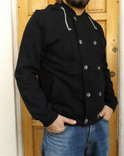 "MEN`S NEW TOPMAN HOODED JACKET SIZE XS 36"" BLACK CARDIGAN JUMPER RRP £32"