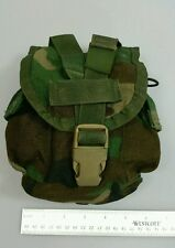 1 QT Woodland Camo Canteen / Utility Pouch Molle Authentic Army Surplus SDS