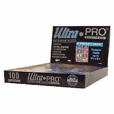25 ULTRA PRO PLATINUM 8-POCKET  2 3/4 x 3 7/8 Pages Sheets Protectors Brand New