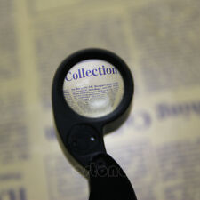 Black 40x 25mm Glass Magnifying Jeweler Eye Jewelry Loupe Loop Led Light New