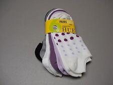 NWT Women's HUE Microfiber Foot Liner Footie Sock 6 Pair Shoe 6-9 Multi #446J