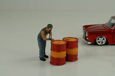 Öl Fass Fässer Set Oil Drum Zubehör Equipment 1:24 American Diorama no figur car