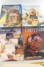 Lot of 4 Somerset Studio 2002-03 Craft Mags/Paper Arts,Stamping,Lettering - VG