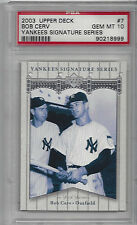 Bob Cerv-2003 UD Yankees Signature Series Graded Card-With Joe DiMaggio