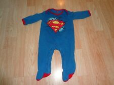 Infant/Baby  Superman 6/9 Mo Footies Pajamas Halloween Costume