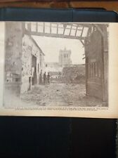 m3-4 ephemera 1918 Ww1 Picture Church At Caix Near Chaulnes