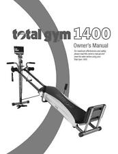 Total Gym 1400 Owners Manual Guide For Home Fitness Exercise System Equipment