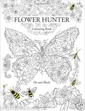 Flower Hunter Adult Colouring Book Floral Ocean Creative Art Therapy Relax Calm