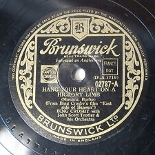 78rpm BING CROSBY hang your heart on a hickory limb / that sly old gentleman