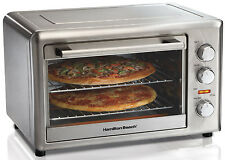 Hamilton Beach 31103 Kitchen Countertop Convection Oven Rotisserie Pizza Broiler
