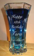 Flower Vase Personalized Happy Birthday Name Date