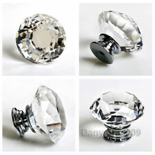 8X Glas Kristall Möbelknöpfe Möbelgriffe Möbelknauf Tür Schrank Knopf Griff 40MM