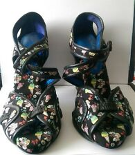 irregular choice  black ice cream shoes 7