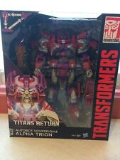 BrandNew Transformers Titan Return Voyager Class Autobot Sovereign & Alpha Trion