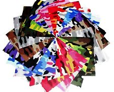 """5"""" Quilting Fabric Sqs Kickin Camo Brights Charm Pack 40 pack !!"""
