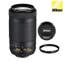 Nikon AF-P DX NIKKOR 70-300mm f/4.5-6.3G ED VR Lens+Cap+UV Filter #20062 - USA