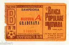 CALCIO   BIGLIETTO  TICKET   SAMPDORIA  RISERVA  A  CAMPIONATO 1978/79
