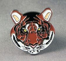 Metal Enamel Pin Badge Brooch Tiger Head Big Cat Jungle Safari Wild Life