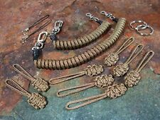 2 Coyote Brown Lanyards 8 Zips -for- Maxpedition,Condor Tactical Tailor Tad 5.11