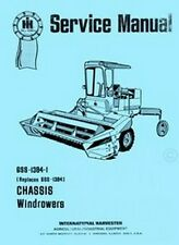 International Harvester 210 225 230 275 375 Windrower Chassis Service Manual IH