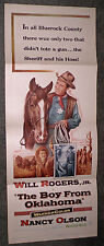 THE BOY FROM OKLAHOMA original 1954 movie poster WILL ROGERS JR./NANCY OLSON