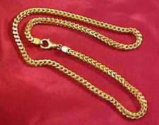 VINTAGE ESTATE 14K SQUARE WHEAT SPIGA CHUNKY THICK CHAIN NECKLACE 24.9g