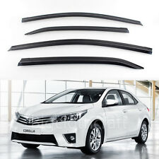 New Smoke Side Window Vent Visors Rain Guards for Toyota Corolla 2014