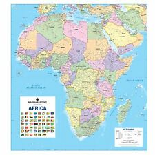 Africa Political Laminated Wall Map For Business