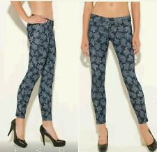 Guess Power Skinny Floral-Print Jeans size 23