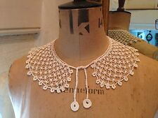 Pretty Vintage Handmade Ivory Cream Lace Collar Immaculate