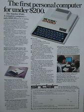 12/1980 PUB SINCLAIR RESEARCH ZX80 PERSONAL COMPUTER PC BASIC ORIGINAL AD