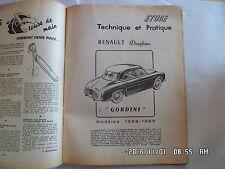 RTA RENAULT DAUPHINE GORDINI modèles 1958 - 1959    D79