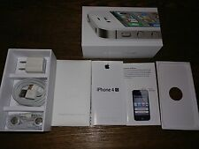 NEW IPHONE 4S WHITE BOX KIT TRAY MANUAL EARBUDS CHARGING BLOCK LIGHTNING CABLE
