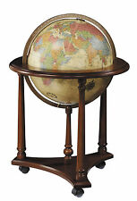 Replogle Lafayette Illuminated 16 Inch Floor World Globe - Antique