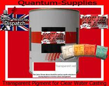 Rojo Transparente Pigmento 250g Para poliéster Gelcoat / Resina / Agua Transparente De Resina