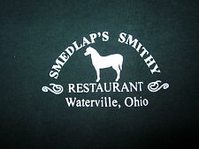 SMEDLAP's SMITHY Restaurant small T shirt Waterville OHIO pioneer sliding board