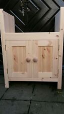Butlers sink cabinet made solid pine cheapest on ebay any size made