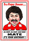 LIVERPOOL SCOUSER FOOTBALL FUNNY CARTOON HAPPY BIRTHDAY CARD FREE POST 1ST CLASS